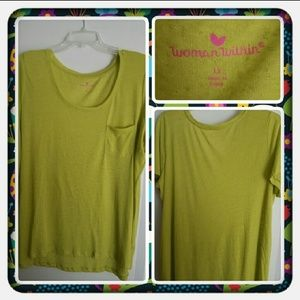 NWOT Woman's Lime Green Top Size 1X